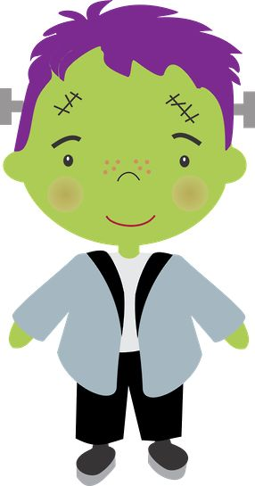 Frankenstein clipart kid Halloween ~*♠️Minus about Minus 1451