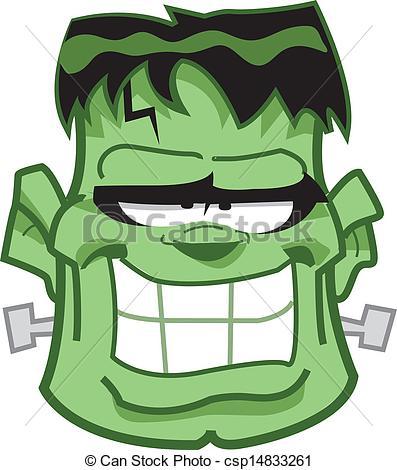 Frankenstein clipart sketch Frankenstein Head Frankenstein Art csp14833261