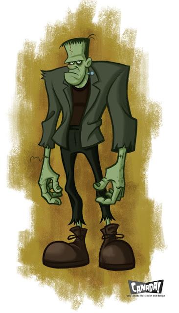 Frankenstein clipart sketch 001 Frankenstein BlogWorld: Bob Canada's