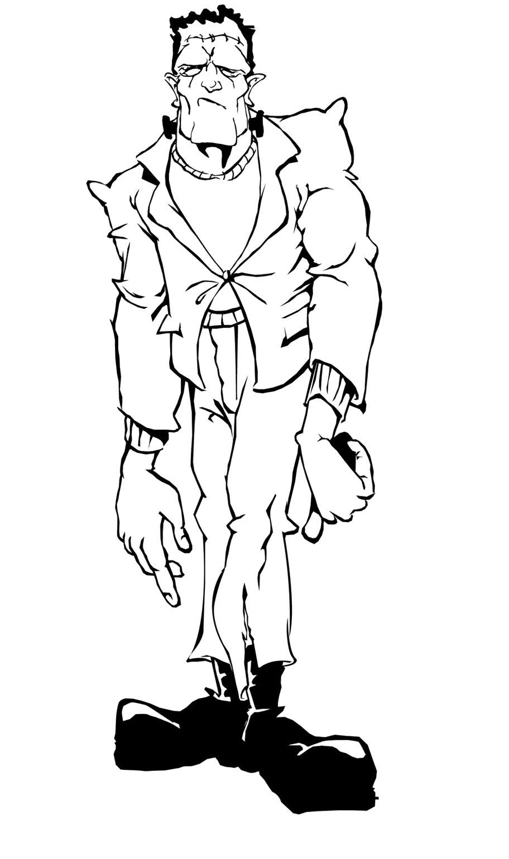Frankenstein clipart sketch Pinterest Zombie Frankenstein Frankenstein Coloring