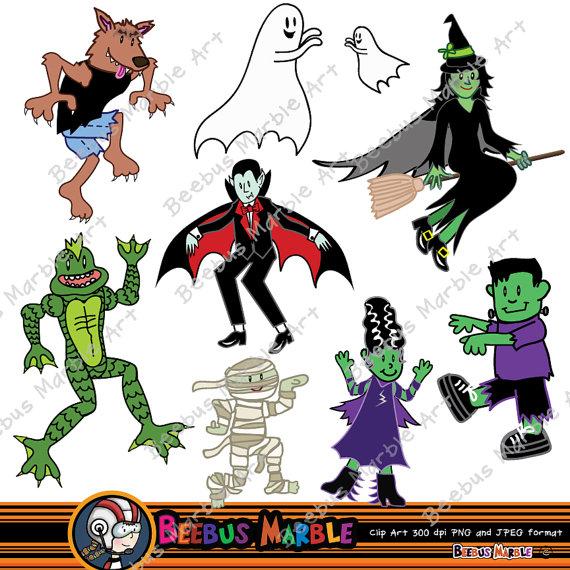 Zombie clipart frankenstein Trick beebusmarble Trick Halloween digital