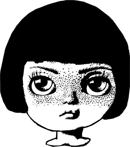 Freckles clipart black and white Digital Image clipart freckle clip