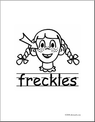Freckles clipart black and white Basic Words: abcteach Clip (poster)