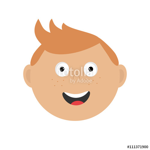 Red Hair clipart freckles Freckles Smiling and character emotion