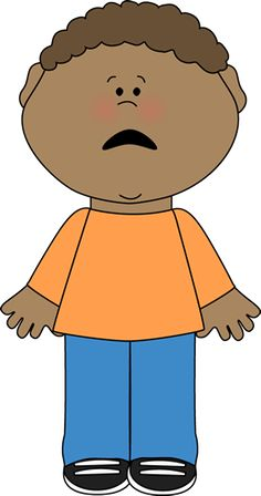 Scary clipart scared child #6