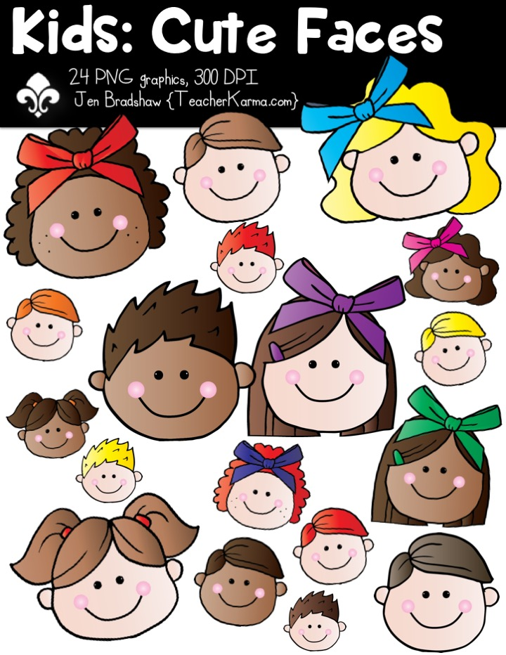 Red Hair clipart teacher Students include Faces skin clipart