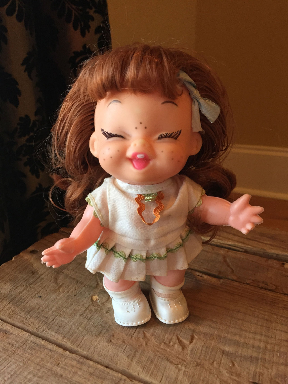 Freckles clipart cute doll 1960s this Vintage Hong Plastic