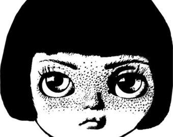 Freckles clipart cute doll Png face head eye digital