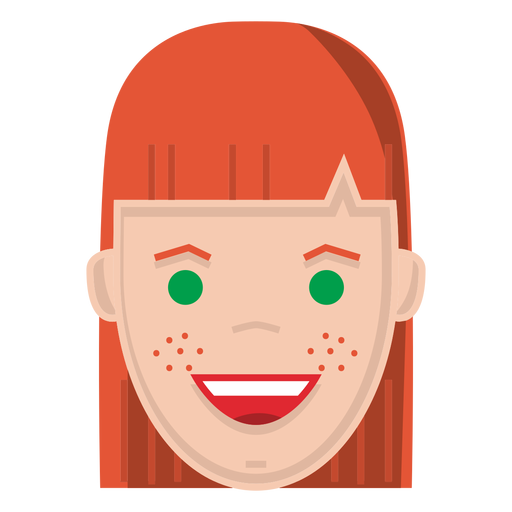 Red Hair clipart freckles PNG Red Transparent ginger vector