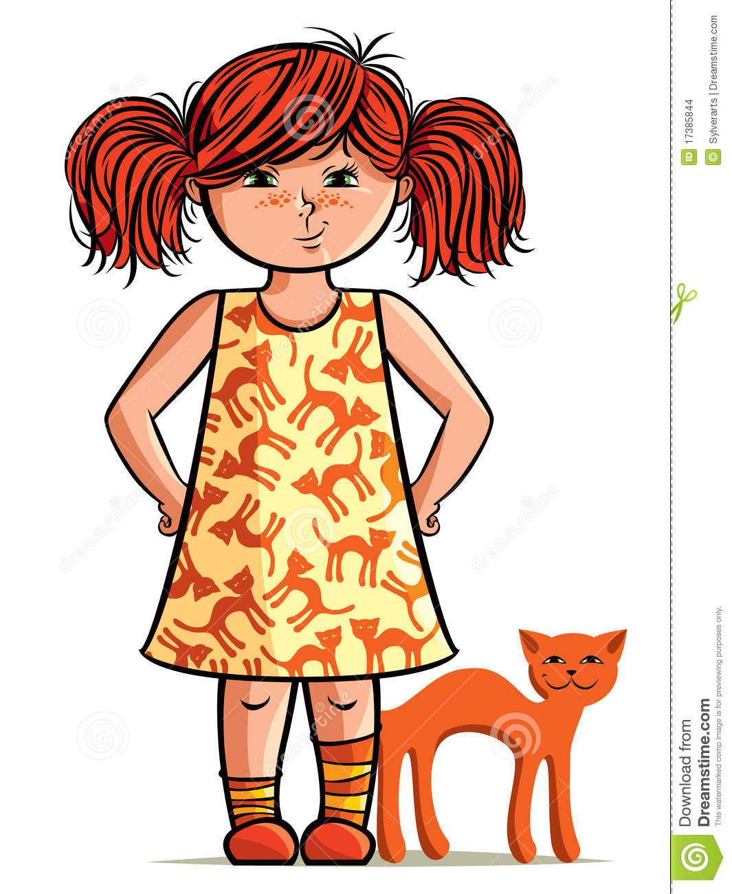 Red Hair clipart cartoon With Art Art – Girl