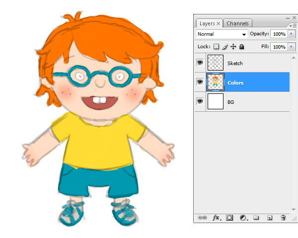 Ginger clipart red hair boy Create Haired a Step 3