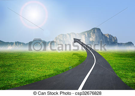 Freeway clipart asphalt Up as arrow an