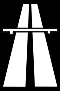 Freeway clipart black and white #15