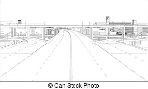 Overpass clipart Highway Highway animated clipart Stock