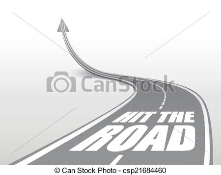 Freeway clipart journey path Road hit on up on