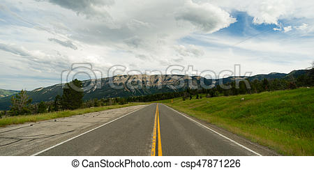 Roadway clipart open road Open Mountain of Road Road