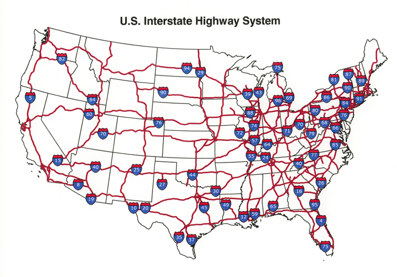 Freeway clipart road map Clipart of with Map us