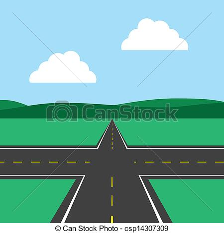 Freeway clipart Vector with sky Road Intersection