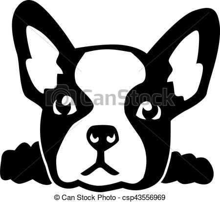 French Bulldog clipart Csp43556969 bulldog Clip head of
