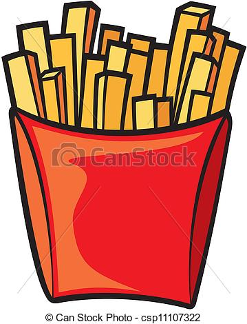 French Fries clipart 6 Vector french  Illustration