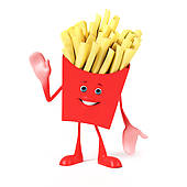 French Fries clipart animated Character Character Fries Stock Illustrations