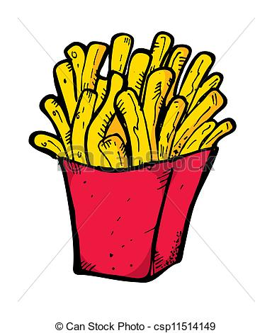 French Fries clipart animated Doodle french of fries doodle