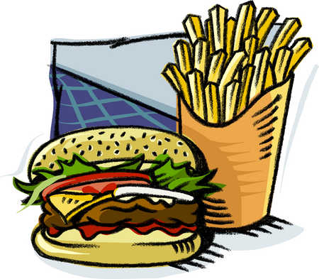 Burger clipart delicious food And of Illustration A fries
