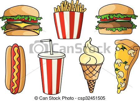 Burger clipart pizza Fries Clipart ice french Pizza
