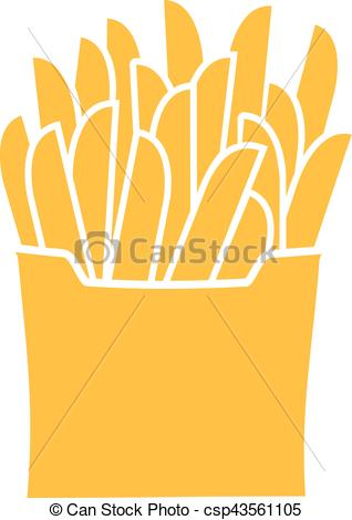French Fries clipart fast food Fries French csp43561105 Food Clipart