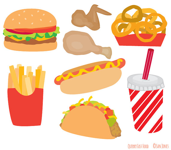 French Fries clipart fast food Hot Fries Food Etsy Set
