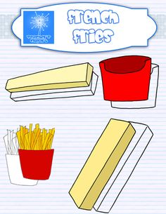 French Fries clipart food Food clipart clipart: counting and