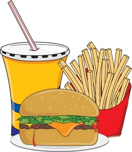 French Fries clipart food  Clipart Cheeseburger fries and