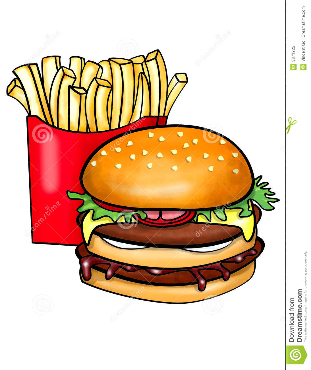 Burger clipart double Cheeseburger Clipart cliparts And Fries