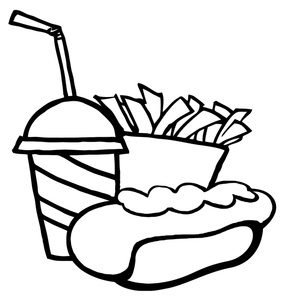 Hot Dog clipart black and white Clipart Hot Clip Hot Free