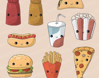 Muffin clipart junk food Clipart art junk Junk Kawaii