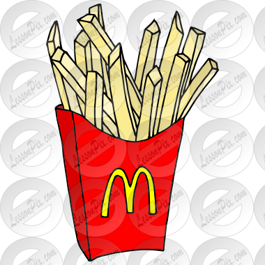 McDonald's clipart french fry  for Classroom Therapy French