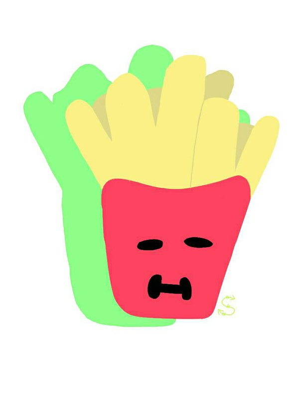 French Fries clipart one french BLEACHFLAVOREDMILK by one on draw