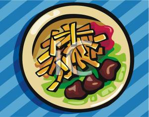 French Fries clipart plate Dinner on French on a
