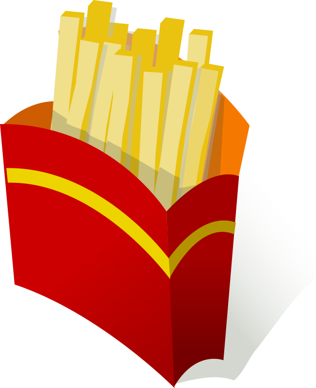 French Fries clipart plate French Public Free Fries Domain