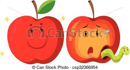 Fresh clipart Rotten apple apple apple and