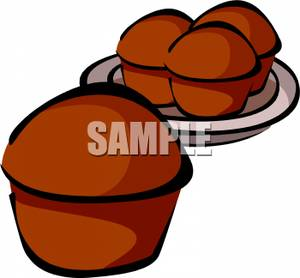 Muffin clipart fresh On Plate a Fresh Clip