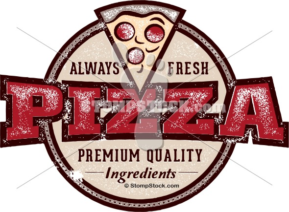 Fresh clipart pizzeria Sign Clip Stock Vintage Royalty