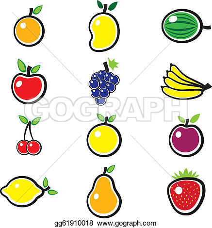 Mango clipart sweet Colorful organic the and apple
