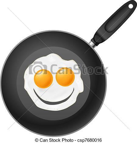 Fried Egg clipart frypan Clip smile of egg Illustration