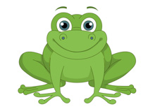 Frog clipart Kb Art green smiling Clipart