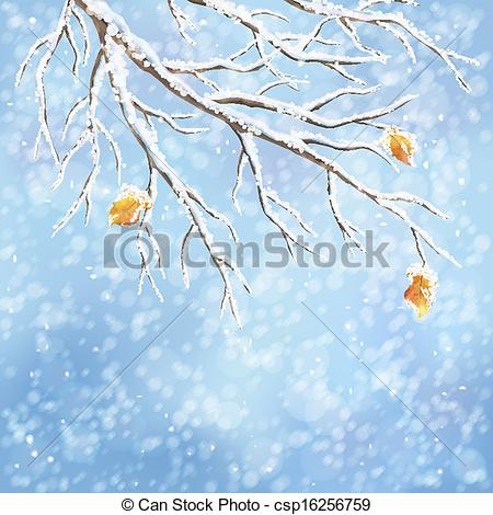 Winter clipart frost Covered covered snow vector background