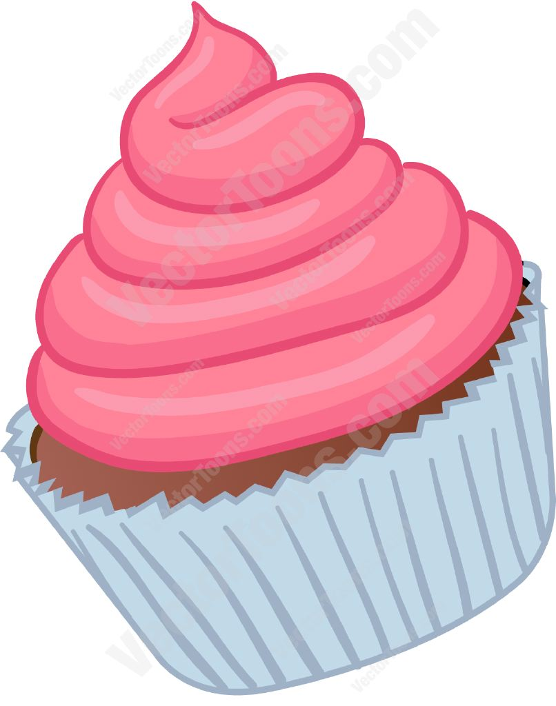 Frosting clipart Swirled Cartoon Clipart Pink With