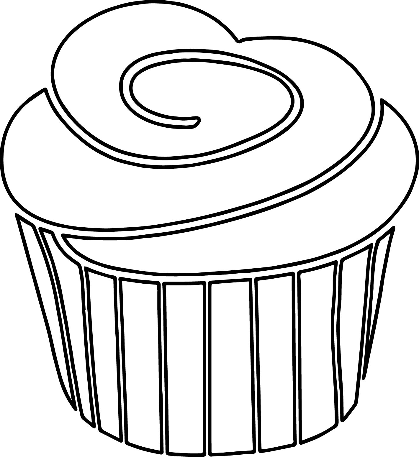 Frosting clipart black and white Coloring Strawberry Frosting White A