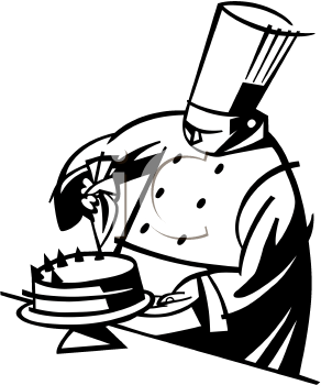 Frosting clipart black and white Images Chef White Clipart Panda