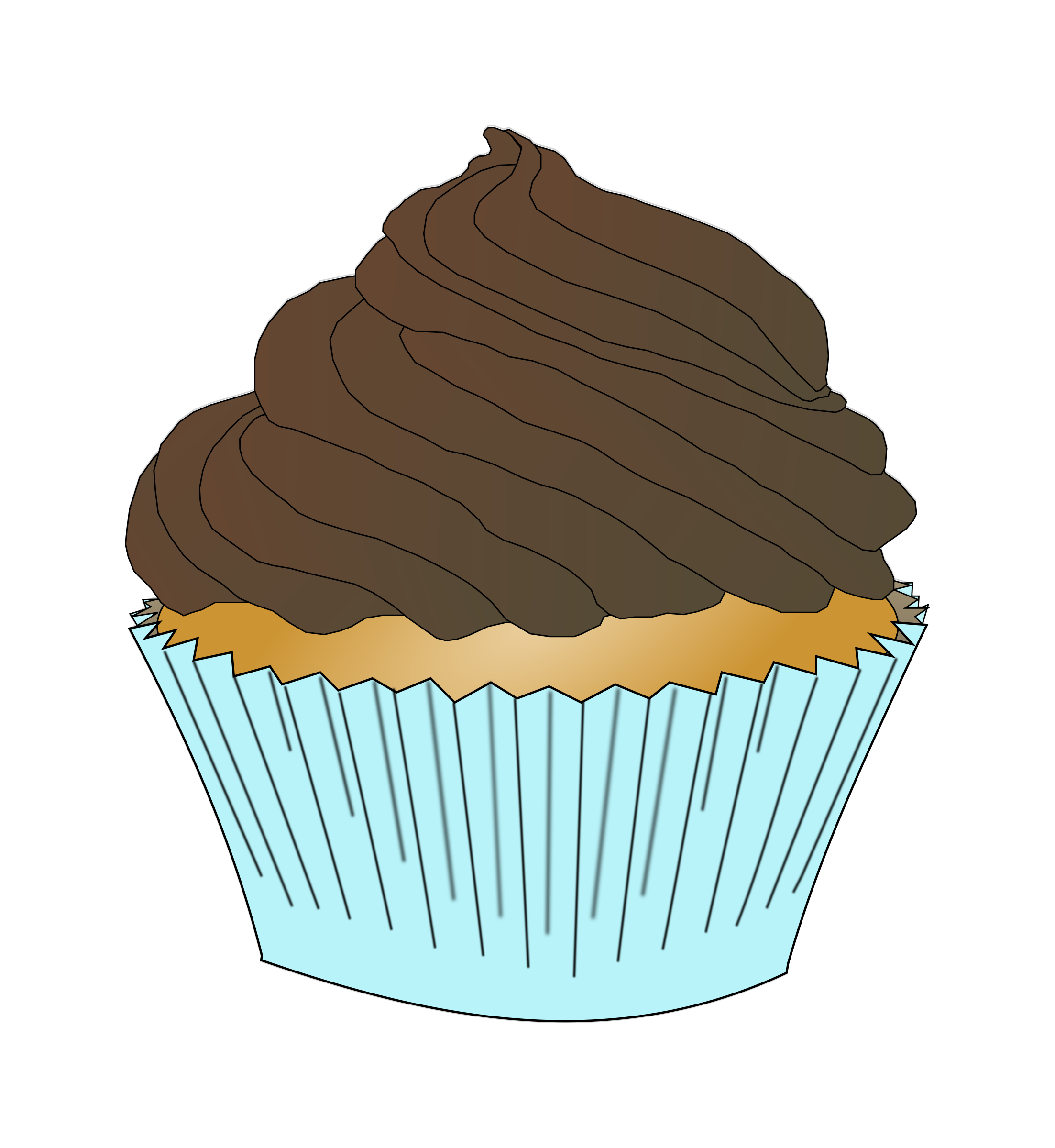 Frosting clipart chocolate cupcake Chocolate Frosting Clipart Cupcake Cupcake